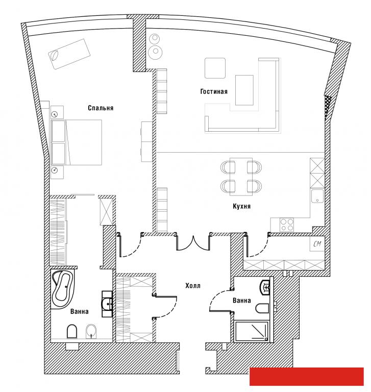 Продажа 2-к квартиры Камалеева,1, 78 м² (миниатюра №1)