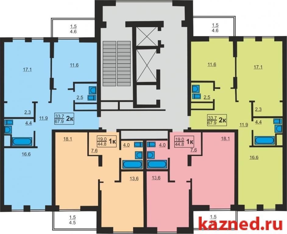 Продажа 2-к квартиры Чистопольская  69, 68 м²  (миниатюра №2)