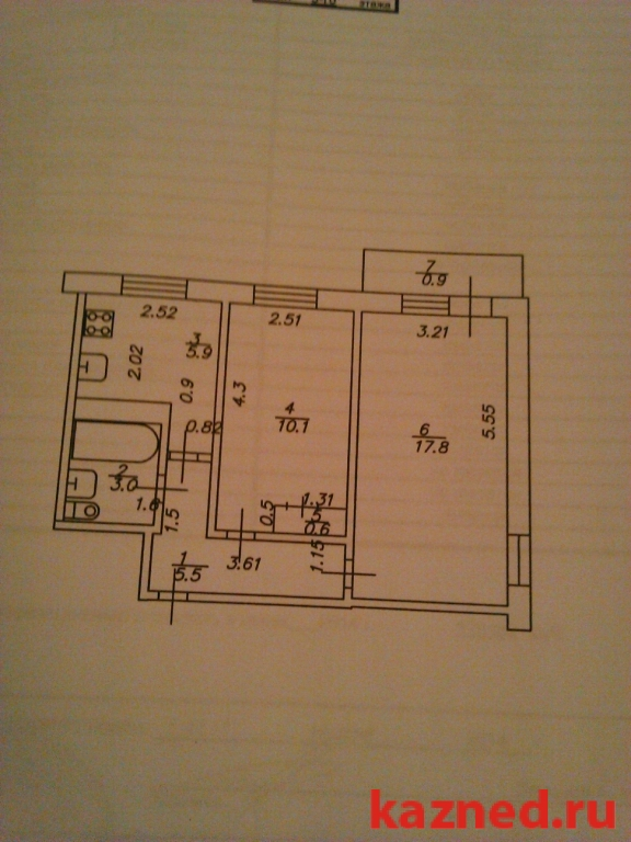 Продажа 2-к квартиры Сыртлановой 29, 44 м² (миниатюра №1)