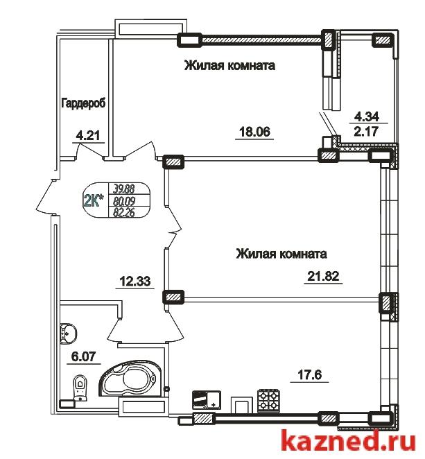 Продажа 2-к квартиры Сибирский тракт 13, 83 м² (миниатюра №1)