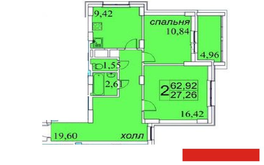 Продажа 2-к квартиры Сахарова, 63 м2  (миниатюра №2)