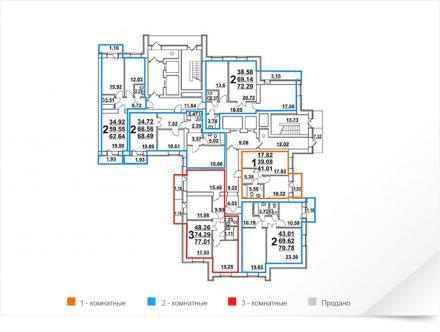 Продажа 2-к квартиры Губкина 5, 71 м²  (миниатюра №2)