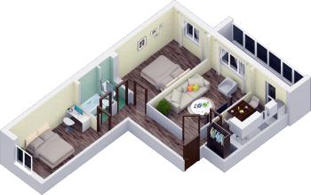 Продажа 3-к квартиры пр.Строителей , 73.0 м² (миниатюра №1)