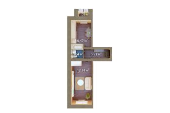 Продажа 1-к квартиры Мамадышский тракт , 36.0 м² (миниатюра №2)