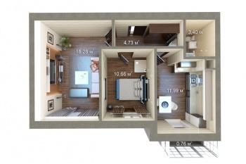 Продажа 2-к квартиры Мамадышский тракт , 51 м² (миниатюра №1)