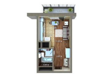 Продажа 1-к квартиры Мамадышский тракт  5 дом, 29 м² (миниатюра №3)