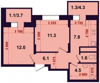 Продажа 2-к квартиры Тэцевская 7Б, 45.0 м² (миниатюра №1)