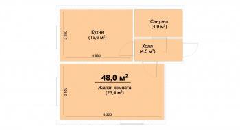 Продажа 1-к квартиры ЖК Светлый, 48 м² (миниатюра №1)