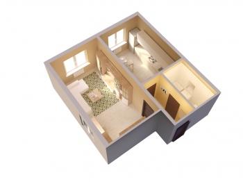 Продажа 1-к квартиры ЖК Светлый, 48 м² (миниатюра №2)