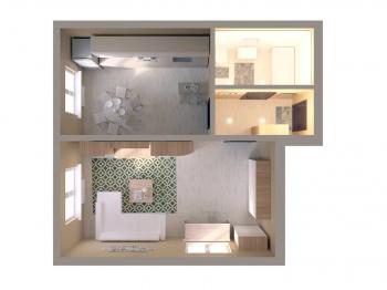 Продажа 1-к квартиры ЖК Светлый, 48 м² (миниатюра №3)
