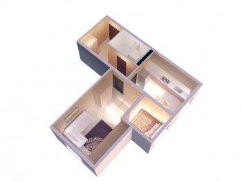 Продажа 1-к квартиры ЖК Светлый, 48.0 м² (миниатюра №2)