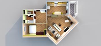 Продажа 2-к квартиры Лукина/Годовикова, 67.0 м² (миниатюра №2)