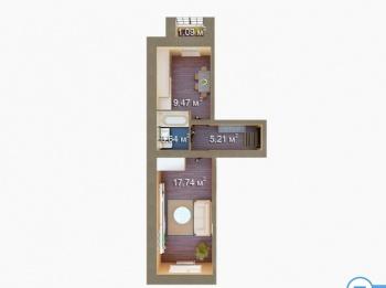 Продажа 1-к квартиры ЖК Царево, 7, 38.0 м² (миниатюра №3)
