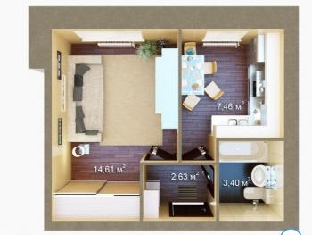 Продажа 1-к квартиры ЖК Царево, 7, 29.0 м² (миниатюра №5)