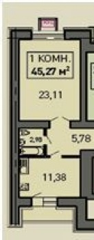 Продажа 1-к квартиры Лукина д. 52, 48 м² (миниатюра №1)