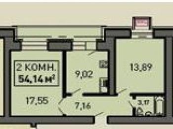 Продажа 2-к квартиры Лукина д.54, 55.0 м² (миниатюра №1)