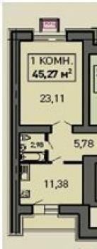 Продажа 1-к квартиры Лукина д.52, 47.0 м² (миниатюра №1)