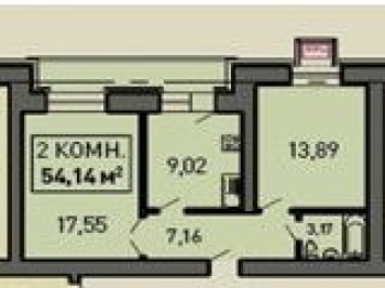 Продажа 2-к квартиры Лукина д.52, 53.0 м² (миниатюра №1)