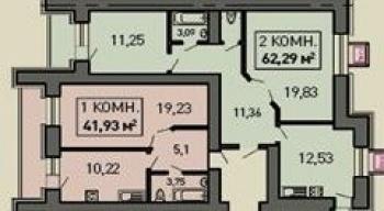 Продажа 2-к квартиры Лукина д.52, 64.0 м² (миниатюра №1)