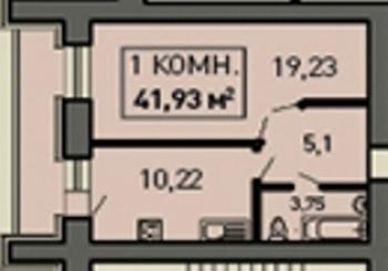 Продажа 1-к квартиры ул.Лукина д.52, 43.0 м² (миниатюра №2)