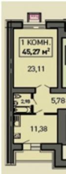 Продажа 1-к квартиры ул.Лукина д.52, 47 м² (миниатюра №1)
