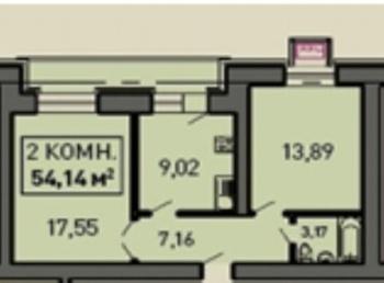 Продажа 2-к квартиры ул.Лукина д.52, 55 м² (миниатюра №1)