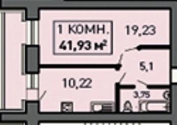 Продажа 1-к квартиры Лукина д.52, 41.0 м² (миниатюра №1)