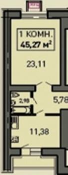 Продажа 1-к квартиры Лукина д.52, 50.0 м² (миниатюра №1)