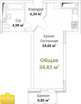 Продажа 1-к квартиры Проточная