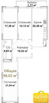 Продажа 3-к квартиры Проточная, 101.8 м² (миниатюра №1)