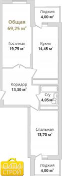 Продажа 2-к квартиры Гвардейская, 70.4 м² (миниатюра №2)