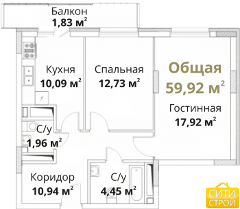Продажа 2-к квартиры Проточная, 63 м² (миниатюра №1)