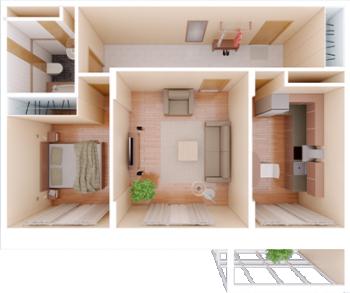 Продажа 2-к квартиры Фучика, 14В, 67.4 м² (миниатюра №2)
