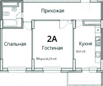Продажа 2-к квартиры Фучика, 14В, 67.4 м² (миниатюра №3)