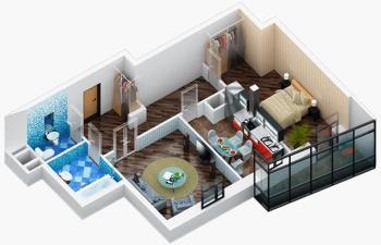 Продажа 2-к квартиры Дубравная д. 28А, 65.0 м² (миниатюра №2)