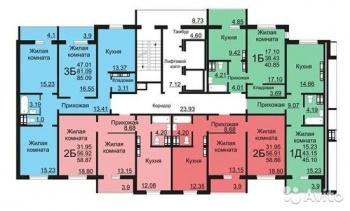 """Продажа 2-к квартиры Натана Рахлина,7 ЖК"""" Светлая долина"""", 60.0 м² (миниатюра №2)"""