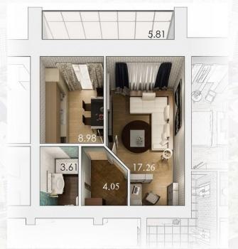 Продажа 1-к квартиры ЖК АртСити, 37 м² (миниатюра №11)