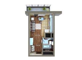Продажа 1-к квартиры Мамадышский тракт, 36.0 м² (миниатюра №6)