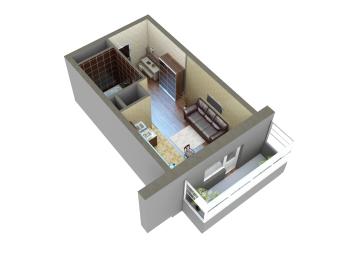 Продажа 1-к квартиры Мамадышский тракт, 36.0 м² (миниатюра №8)