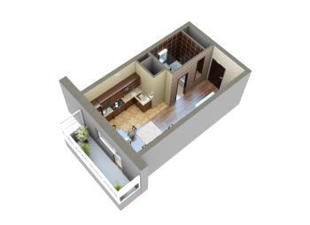 Продажа 1-к квартиры Мамадышский тракт, 36.0 м² (миниатюра №9)