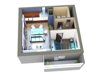 Продажа 2-к квартиры Мамадышский тракт, 45.0 м² (миниатюра №10)