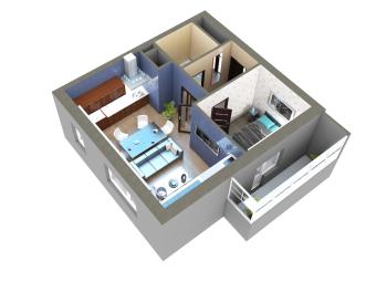 Продажа 2-к квартиры Мамадышский тракт, 45.0 м² (миниатюра №14)