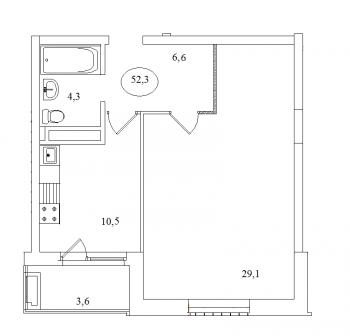 Продажа 1-к квартиры Айвазовского, 16, 52 м² (миниатюра №2)