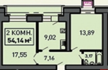 Продажа 1-к квартиры Лукина д.52, 55.0 м² (миниатюра №1)