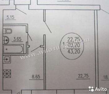 Продажа 1-к квартиры Лядова д15, 44.0 м² (миниатюра №2)