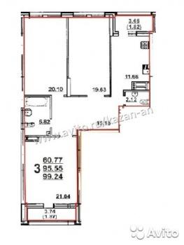 Продажа 3-к квартиры Павлюхина стр.2 Симфония,ДОМ СДАН, 100 м² (миниатюра №2)
