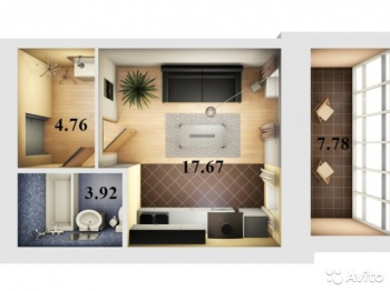 Продажа 1-к квартиры Даурская д 46 ЖК ЖУРАВЛИ, 31.0 м² (миниатюра №1)