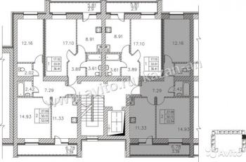 Продажа 2-к квартиры Мамадышский тракт, Дом 1, 57 м² (миниатюра №1)