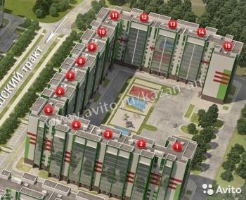 Продажа 2-к квартиры Мамадышский тракт, Дом 1, 57 м² (миниатюра №2)