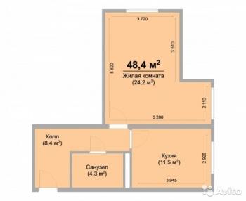 Продажа 1-к квартиры ЖК Светлый.СДАННЫЙ, 49.0 м² (миниатюра №1)